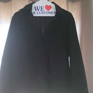 Long sleeve button down fitted black shirt
